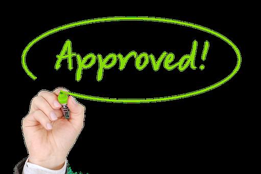 Approved -testi hyväksytty
