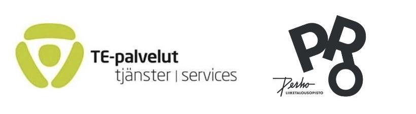 TE-palvelut ja PerhoPRO logot yhteistyössä