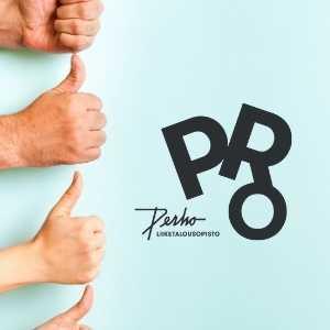 Peukut ylös ja PROn logo